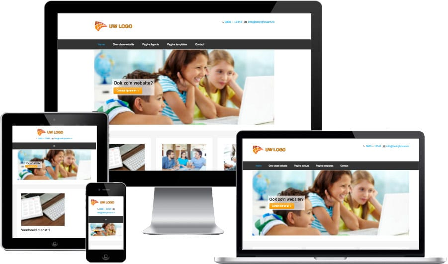 WordPress website voorbeeld
