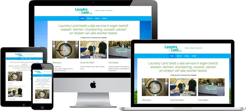 responsive wordpress website laundry land