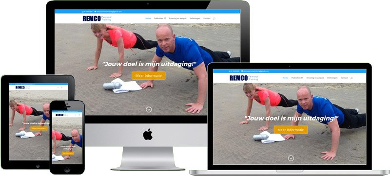 WordPress website Remco Personal Training
