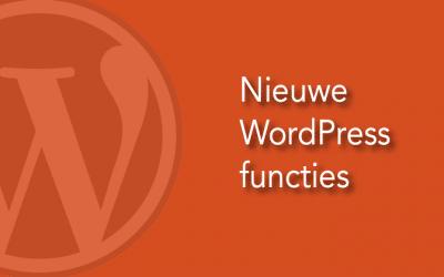 Nieuwe functies in WordPress 4.8