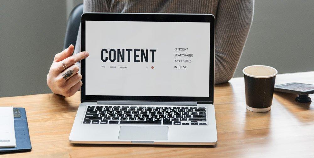 webshop content